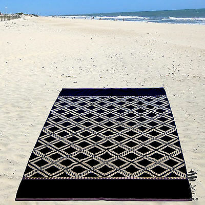 Top Quality Large Black Beach Towel 100% Cotton 500Gsm - Ref. Chess
