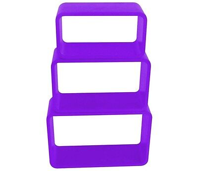 Stackable Shelf Set 3 Pieces lilac high gloss painted Living room shelf Dividers