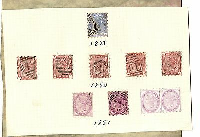 GREAT BRITAIN Two Pence Blue PENNY RED Lilac One Penny 1873 - 1881 STAMPS