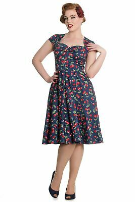 Hell Bunny Pin Up Cherry April Dress with Pockets  LAST SIZE XS REDUCED TO CLEAR