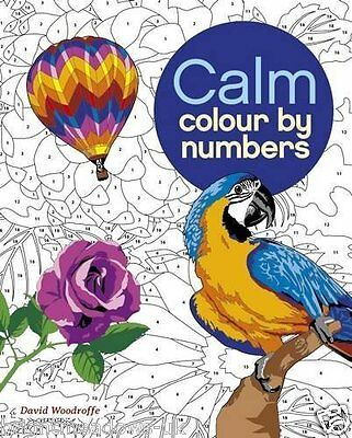 Calm Colour By Numbers Adult Colouring Book Animals Flowers Number Relaxing New