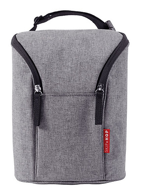Brand new Skip Hop grab and go double bottle insulated bag in heather grey