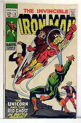 Iron Man (Vol 1) #  15 Fine (FN)  RS003 Marvel Comics SILVER AGE