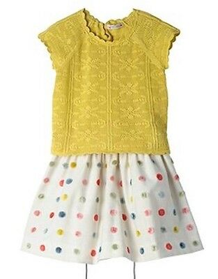 Bonpoint Baby Crochet Yellow Sweater Top 3 Years