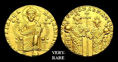 BY-FKWD - LEO VI, (the Wise), CONSTANTINE VII Gold Solidus, ca.908-915AD.