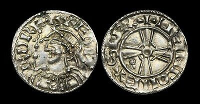 SA-KBQT - EDWARD THE CONFESSOR - Expanding Cross Type Light Penny, ca.1052-3AD.