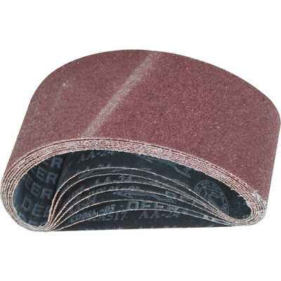 40mm x 303mm ALUMINIUM OXIDE ABRASIVE SANDING BELTS - VARIOUS GRIT OPTIONS
