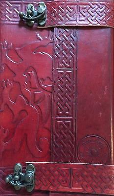 Leather Bound & Locking CELTIC DRAGON Book of Shadows, Journal!