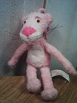 Pink panther 5 inch clip-on mini plush by Aurora world cute cartoon keychain toy