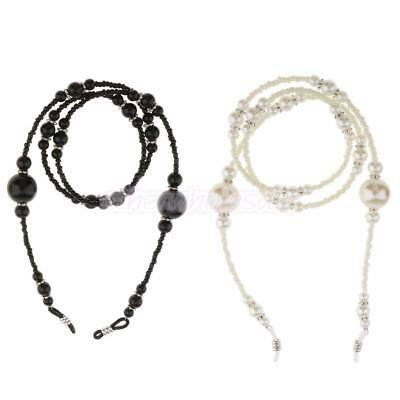 Beaded Eyeglass Holder Necklace Sunglasses Neck Strap Chain Lanyard with Pearl