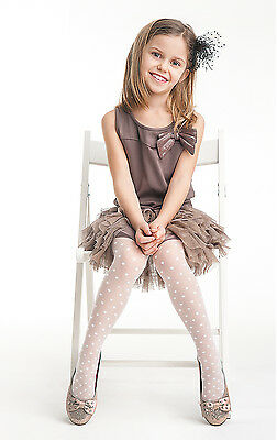 White Girl 20 den Tights First Holy Communion Bridesmaid Girl Party Pantyhose T3
