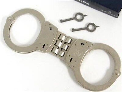 SMITH & WESSON S&W Hinged Model 300 Handcuffs 300-1 Nickel + Keys!