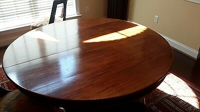 Mahogany Empire 12ft Dining Table w/7 leaves circa late 1800s