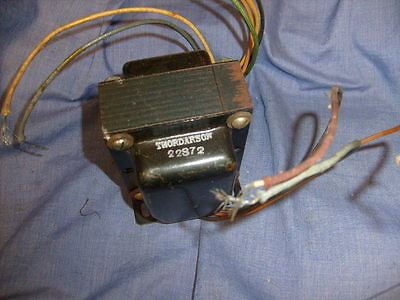 Vintage THORDARSON TRANSFORMER MODEL 22S72 FROM RADIO SHOP / A6