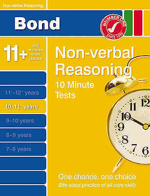 Bond 10 Minute Tests 10-11 Years: Non-Verbal Reasoning-ExLibrary