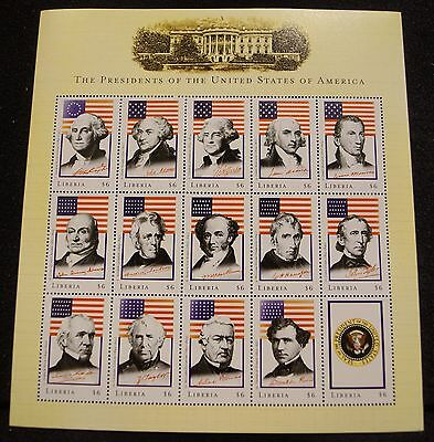 2001 Washington Through Bush American Presidents,  3 Mint Sheets Of Stamps