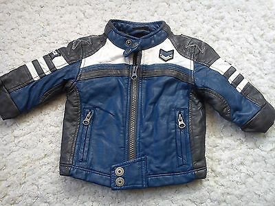 Amazing Leather Race Next Baby Boy Spring Autumn Jacket 3/6 Mths