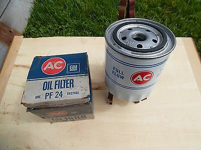 NOS AC PF-24 White Embossed Oil Filter GTO 66 67 68 69 70 Firebird 389 400 &MORE