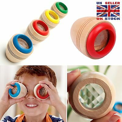 New Wooden Magical Gift Kaleidoscope Baby Children Kids Prism Toy