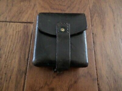 Original Wwii Italian Military Black Leather Ammunition Ammo Pouch