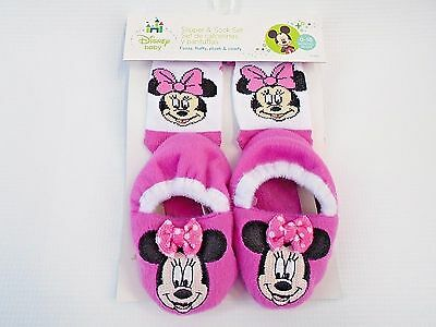 Minnie Mouse Sock & Slippers Set By Regent Baby Products, Disney Cute!