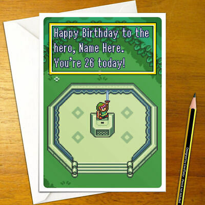 Zelda A Link To The Past Personalised Birthday Card Legend Snes