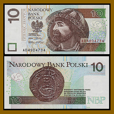 Poland 10 Zlotych, 2012 P-183 About Unc