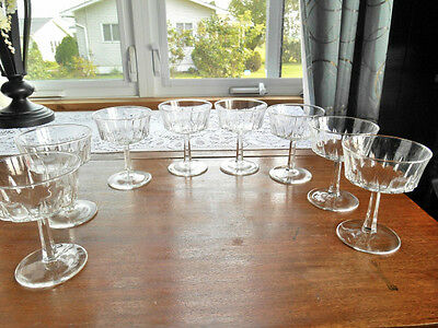 Arcoroc France Sherbets / Champagne Glasses 7-1/2 Ounces Lot of 8