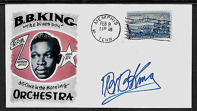 BB King Featured on Limited Edition Collector's Envelope Repro Autograph *A1013