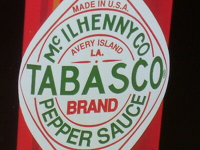 TABASCO PEPPER SAUCE -From Avery Island, Louisiana RESTAURANT OLD SIGN Dated1998