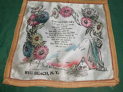 ''sweetheart'' Pillow Cover From Rye Beach, N.y., Circa1940