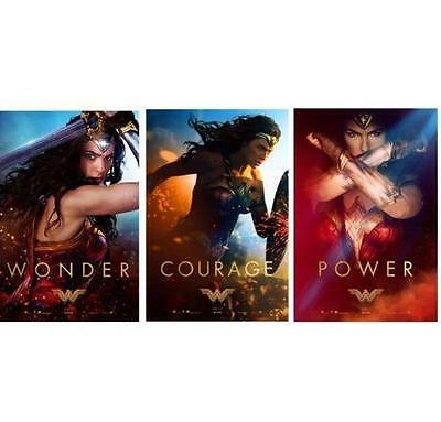 "WONDER WOMAN - Set of 3 - 11.5""x17"" Original Promo Movie Posters 2017 MINT DC"