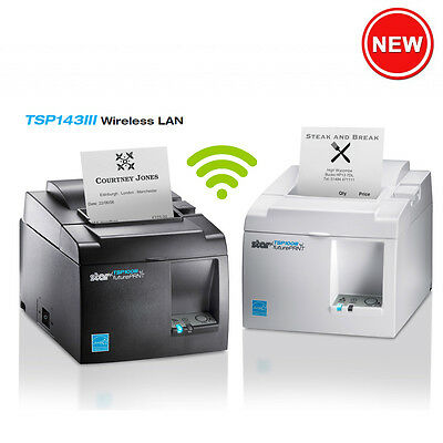 TSP143III (WLAN) futurePRNT Thermal Receipt Printer (WIFI) - TSP143IIIW-GRY - C8