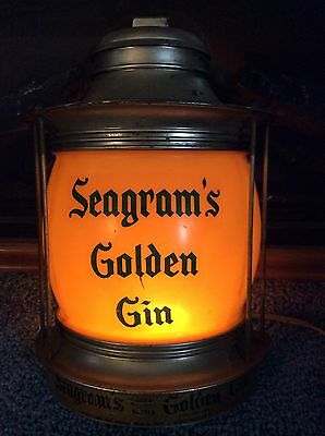 Vintage Seagram's Golden Gin Light Picked From American Pickers Frank Fritz Stor