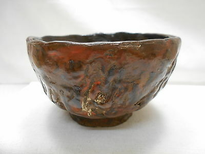 Japanese Tea Ceremony Pottery Bowl Chanoyu Traditional Vintage  #105
