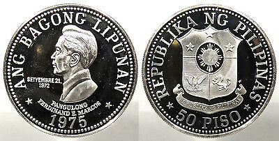 PHILIPPINES: 1975 50 Piso Proof #WC72984