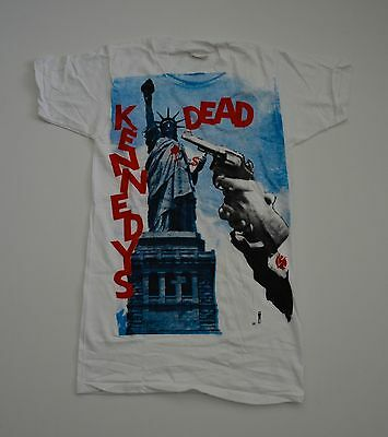 VINTAGE EXTREMELY RARE! DEADSTOCK 1980s FIFTH COLUMN DEAD KENNEDYS PUNK T-SHIRT