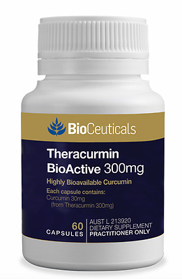 2 x Bioceuticals Theracurmin 300mg 60 Capsules - FREE DELIVERY