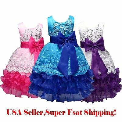 Flower Girl's  Wedding Bridesmaid Pageant Dress Formal Dress