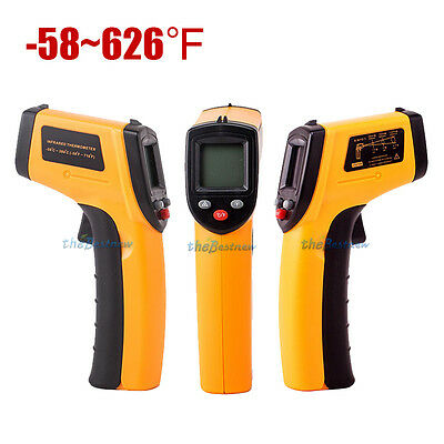 -58~626℉ Digital Temperature Temp Gun Measure Heat Laser Infrared IR Thermometer