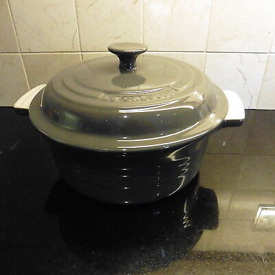 Le Cresuet Grey Casserole Dish With Lid 20Cm Stone Wear Oven Dish New