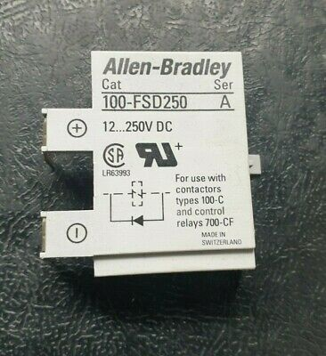 Allen Bradley 12-250VDC Surge Suppressor Auxiliary Contact 100-FSD250 A