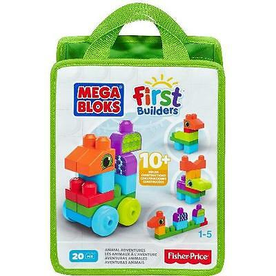 Mega Bloks First Builders Build 'n Learn Bag - Animal Adventures