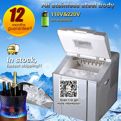 Commercial Mini Ice maker 20kg/24h Ice make machine Home use Ice machine