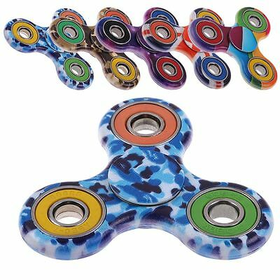 New EDC Hand Fidget Spinner Desk Toys ABS&Steel Toy For ADHD - MULTICOLOR CAMO~
