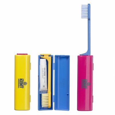 Kent Travel Toothbrush With Toothpaste Conveniently Folds Fast And Free Delivery