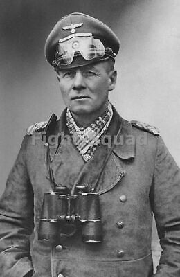WW2 Picture Photo Field Marshal Erwin Rommel Desert Fox North Africa 1942  1184