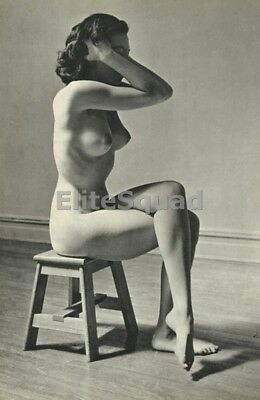 Photo Erotic antique vintage art nude big breasts amazing nice woman pin-up 469