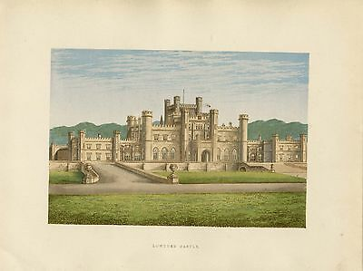 c.1880 Print of Lowther Castle,Clifton,Cumbria
