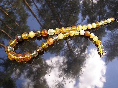 Genuine Baltic Amber Necklace. Only Natural Stones.